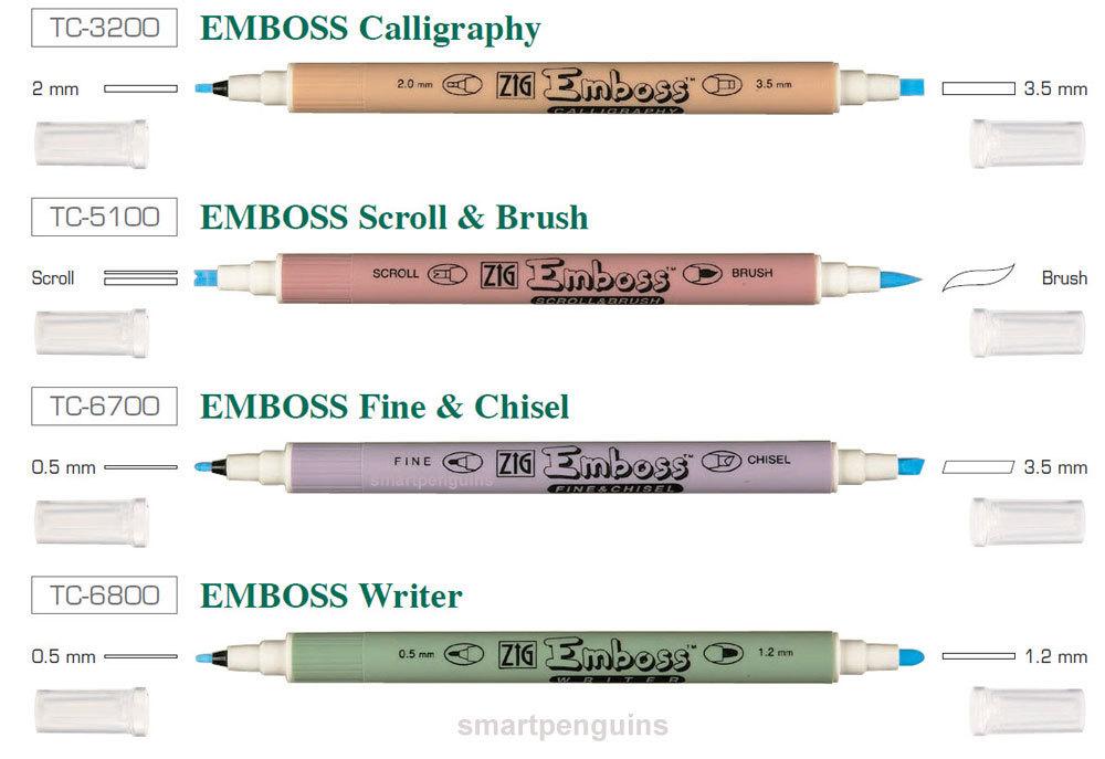 Маркер для эмбоссинга Zig Emboss Scroll & Brush Twin Tip Marker