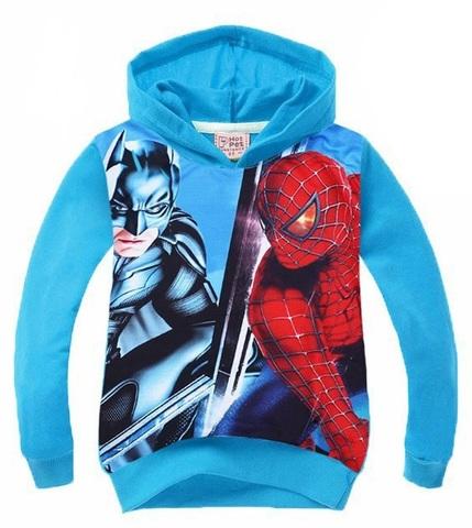 Детская толстовка Человек паук и Бэтмен