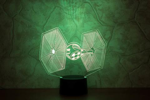 3D светильник СИД - Истребитель