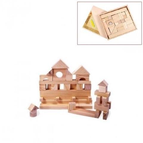 Конструктор Paremo Деревянный 35 деталей неокрашенный в деревянном ящике PE117-13