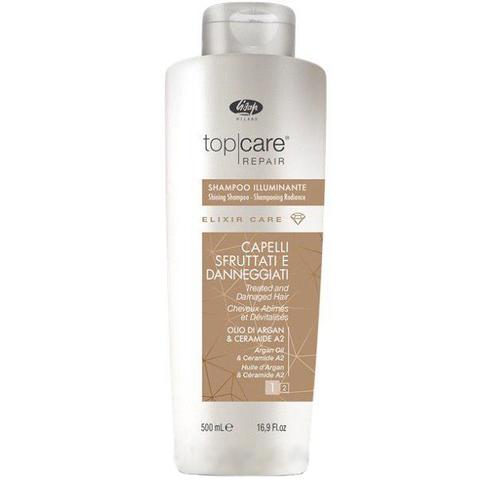 Шампунь-эликсир для восстановления и придания сияющего блеска - «Top Care Repair Elixir Care Shampoo»