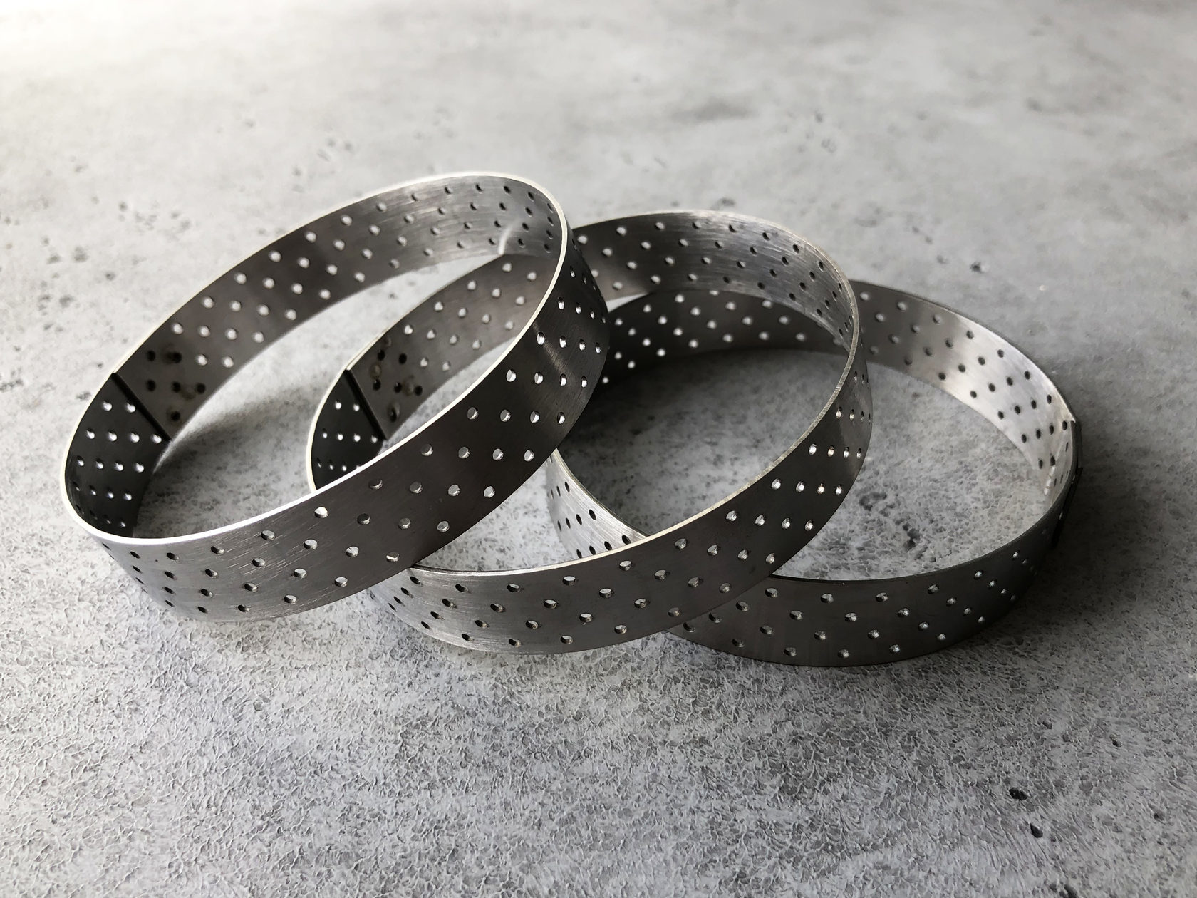 Набор перфорированных форм для тарталеток (3 шт)