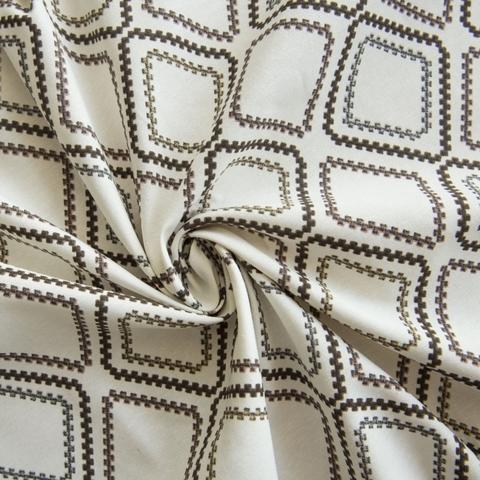 Ткань хлопок Снек коричневый