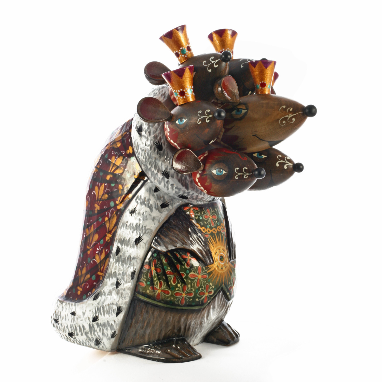 Деревянная игрушка Семиголовый Мышиный король