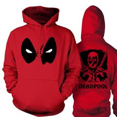 Толстовка Худи Дэдпул красная — Hoodie Deadpool red