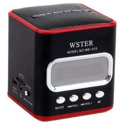 Портативная колонка WS-215 MP3/FM/MicroSD/USB