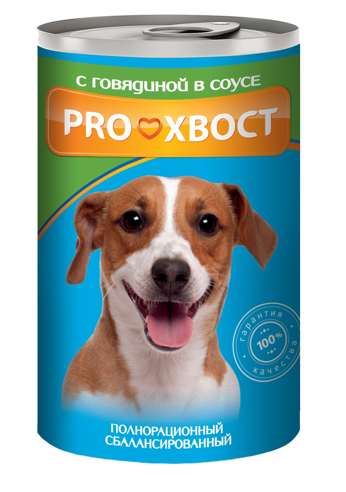 ProХвост Консервы ProХвост для собак говядина в соусе Prohvost_dog_415g.png