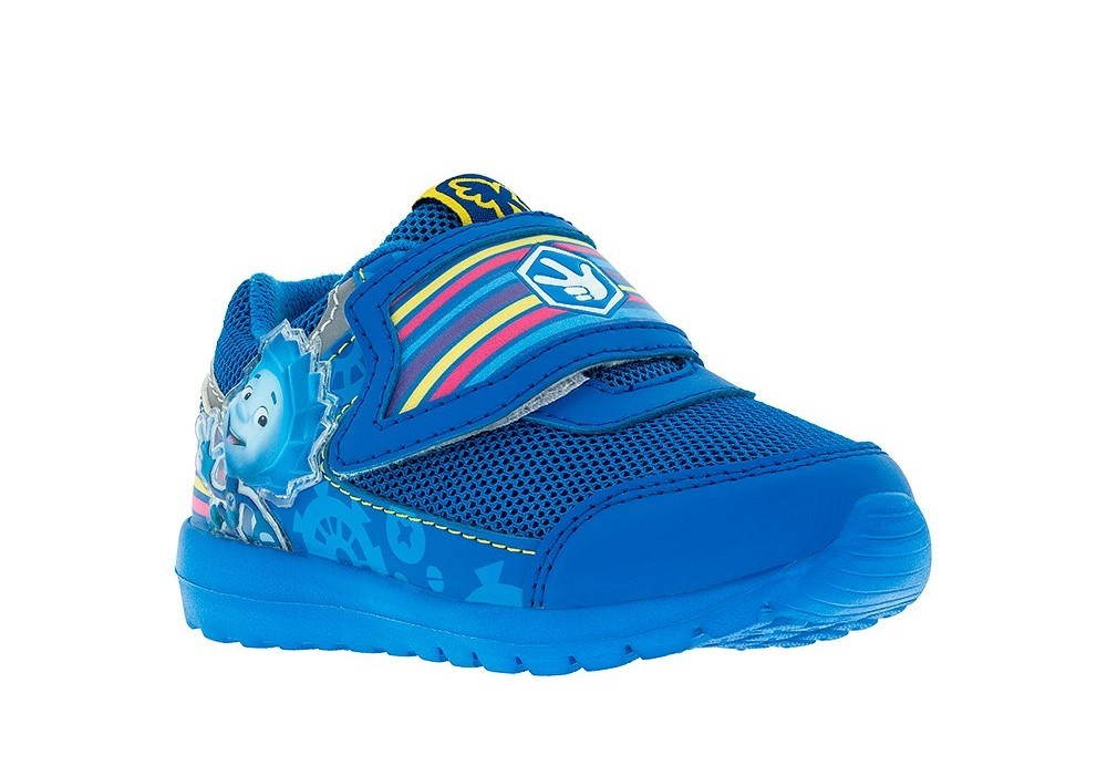 Кроссовки для мальчиков на липучках Фиксики, цвет синий