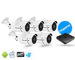 Комплект из 5-ти Уличных камер Onviz U3450  (проводные) (Регистратор Onviz 8k)