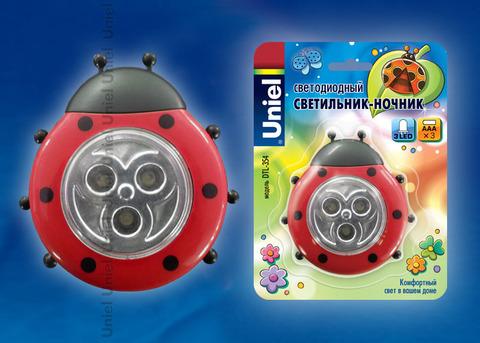 DTL-354 Божья Коровка/Red/3LED/3AAA Cветильник-ночник Божья Коровка,питание от 3-х батареек AAA (в комплект не входят). Цвет - красный. Упаковка - блистер