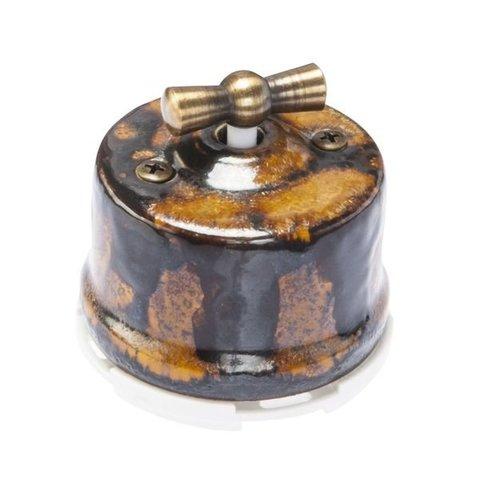 Выключатель перекрестный, для наружного монтажа. Цвет Экзотик. Salvador. OP31EX