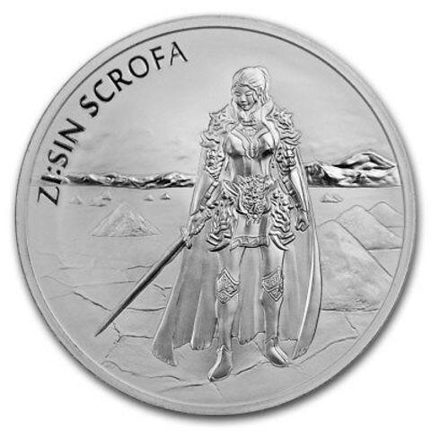 Корейская монета ZI:SIN Scrofa Скрофа. Стражи. Южная Корея. 2019 год