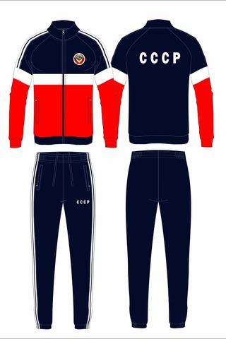 Спортивный костюм СССР 14M-AS-1344 красный