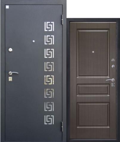 Дверь входная Аметист стальная, венге, 2 замка, фабрика Алмаз