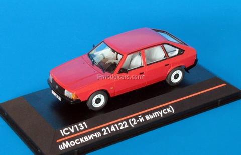 Moskvich-214122 2nd edition dark red 1:43 ICV131