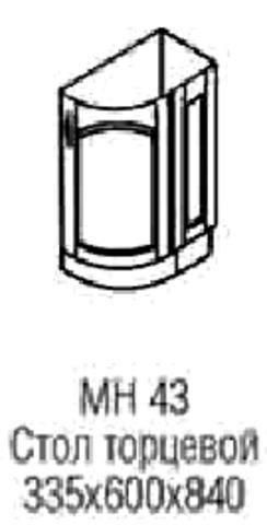стол торцевой МН-43