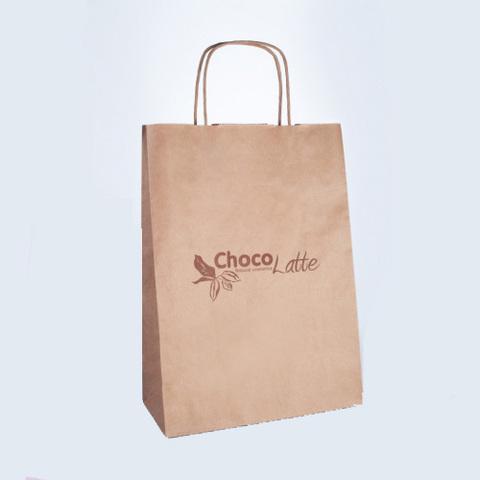 TM ChocoLatte Пакет бумажный с крученными ручками 33*24*12 см
