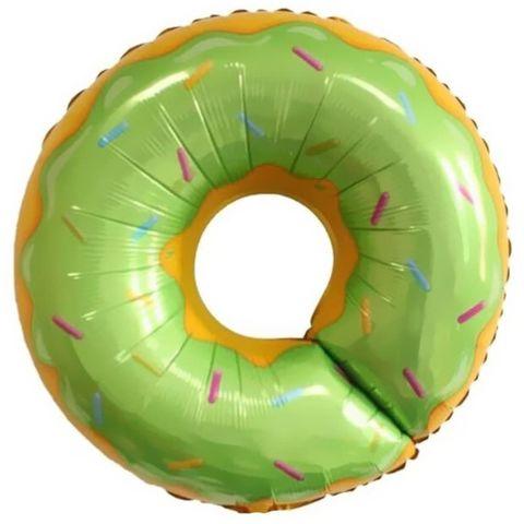 Фольгированный шар «Пончик зеленый»,69 см
