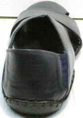 Мужские кожаные сандали босоножки с закрытой пяткой Luciano Bellini 76389 Blue.