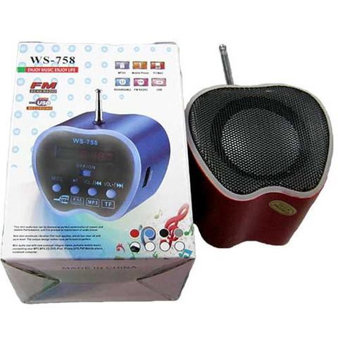 Портативная колонка WS-758 MP3/FM/MicroSD/USB