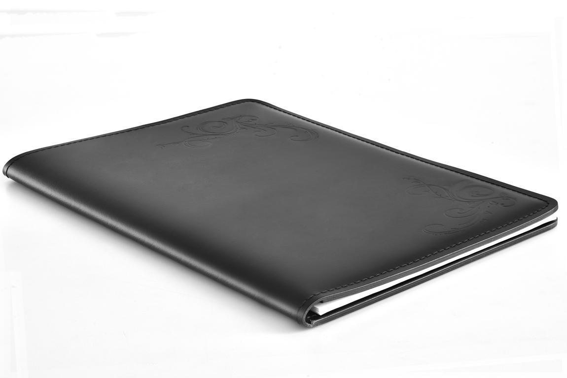 черный скетчбук кожаный А4