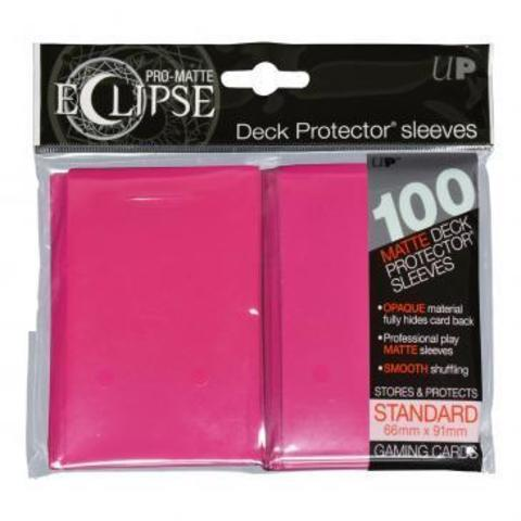 UP Sleeves PRO-Matte Eclipse Hot Pink