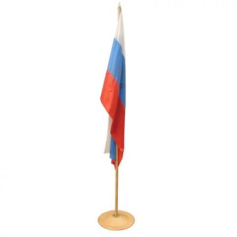 Флаг России наполньный с флагштоком цвета бук