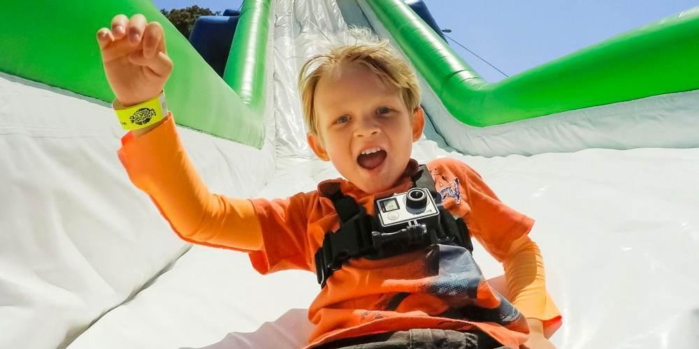 Детское крепление на грудь GoPro Jr. Chesty: Chest Harness (ACHMJ-301) пример использования