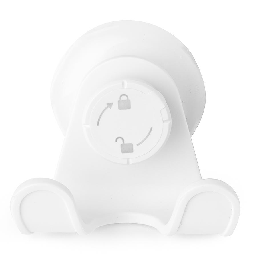 Крючок для ванной комнаты и душа для полотенец настенный на присоске Flex белый Umbra 1004434-660 | Купить в Москве, СПб и с доставкой по всей России | Интернет магазин www.Kitchen-Devices.ru