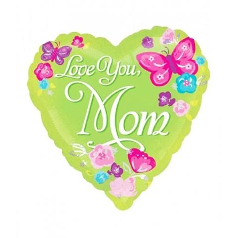 Фольгированный шар Love you, mom