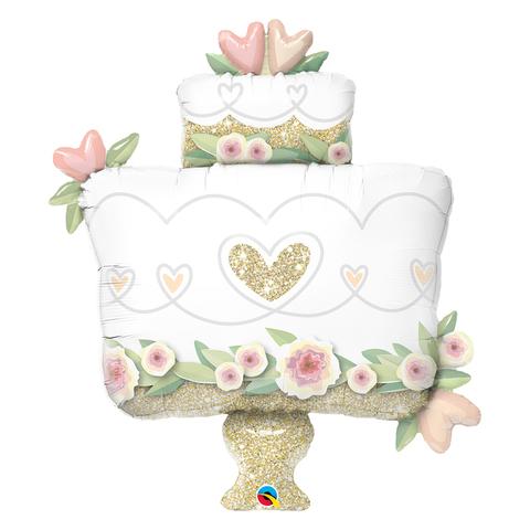 Воздушный шар фигура Свадебный торт, 104 см