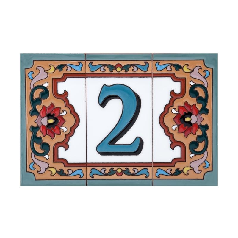 Цифра 2, дополненная бордюром
