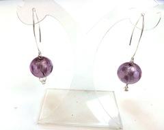 Серьги Perla Grazia светло-фиолетовые pois (Violet Pois)