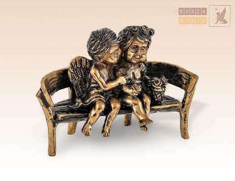 фигурка Ангелочки на скамейке