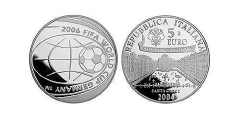 5 евро Чемпионат мира по футболу в Германии 2006г. Италия 2004 г.