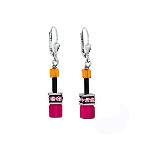 Серьги Orange-Pink 2838/20-0204