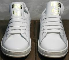 Женские кроссовки кожаные Adidas Stan Smith White-R A14w15wg