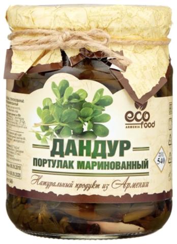 Дандур (портулак) маринованный Ecofood, 540г