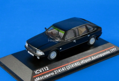 Moskvich-214141 (2141R5) Yury Dolgoruky early edition 1997 Limited Edition of 50 black 1:43 ICV112