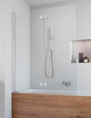 Шторка на ванну Radaway Essenza New PND 120 207212-01L левая, крепится слева, профиль хром, стекло прозрачное 120x150см.