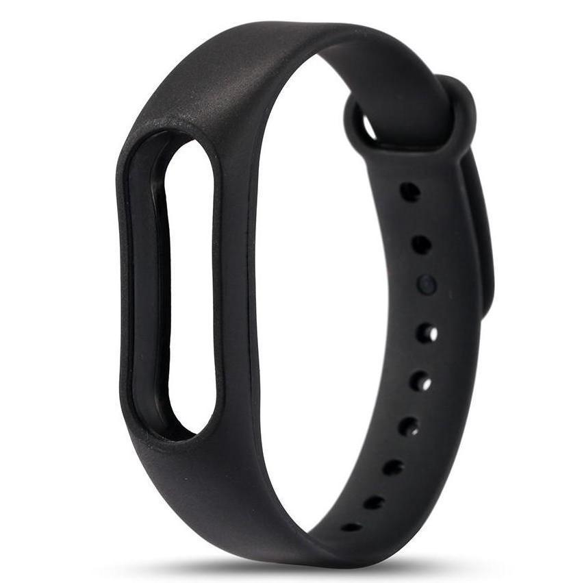Чёрный вариант цвета сменного цветного браслета на Smart Mi Band 2