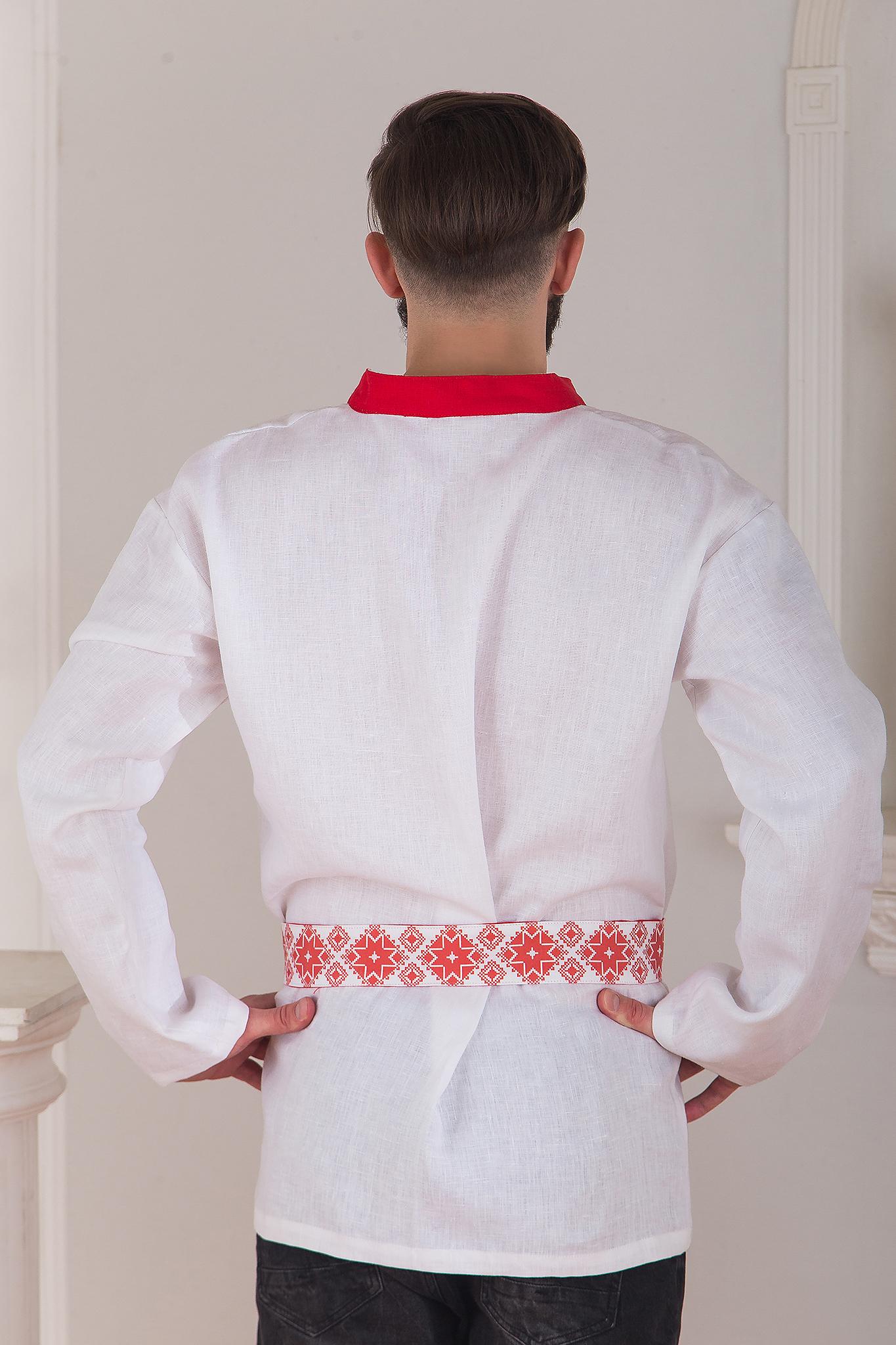 Русская рубаха мужская Воевода от Иванка вид сзади