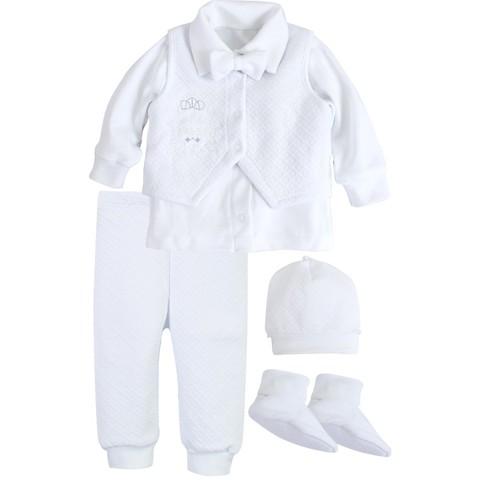 Комплект святковий для хлопчика Newborn Prince белый