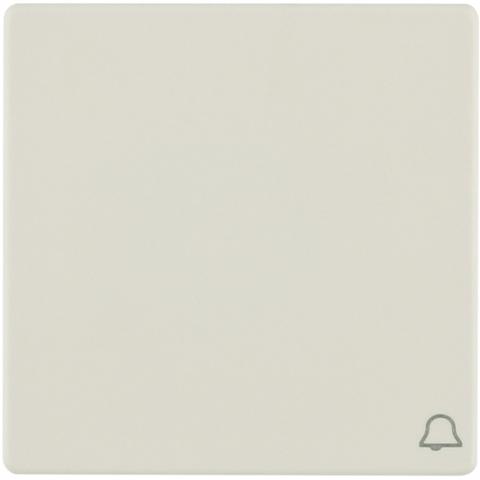Выключатель одноклавишный, кнопочный (1 замыкатель, 1 размыкатель, раздельные входные клеммы) с оттиском символа «Звонок» 10 А 250 В~. Цвет Бежевый. Berker (Беркер). Q.1 / Q.3 / Q.7. 16206052+503203