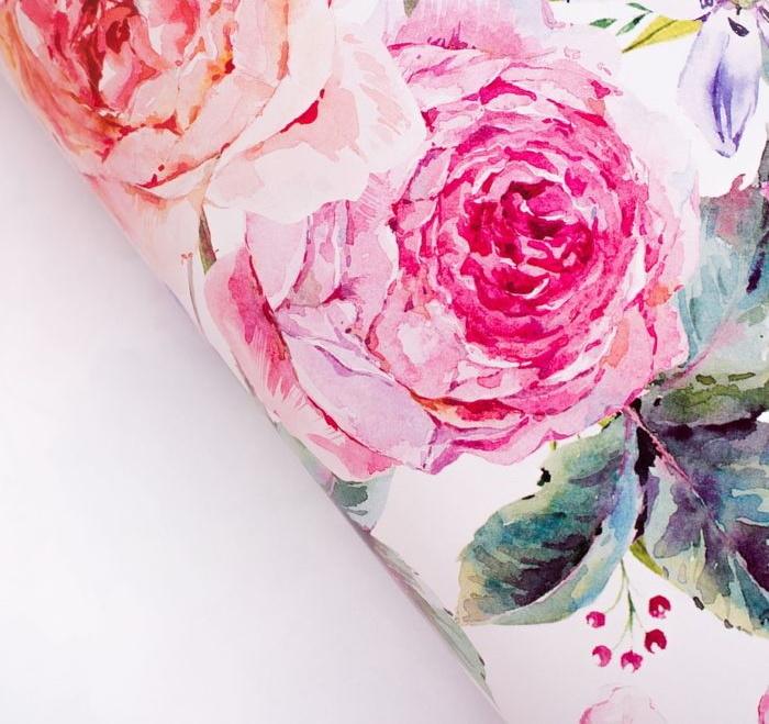 Бумага упаковочная глянцевая «Пионы цветы», 70 100 см фото