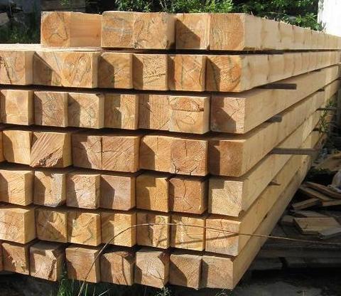 Брус 150х150х6000 мм, сорт 1, свежий лес, ТУ
