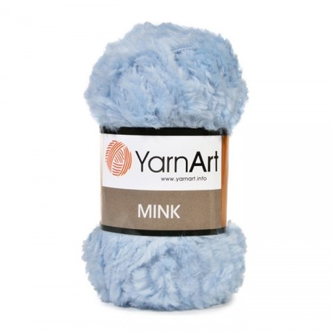Пряжа YarnArt Mink - (351 голубой)