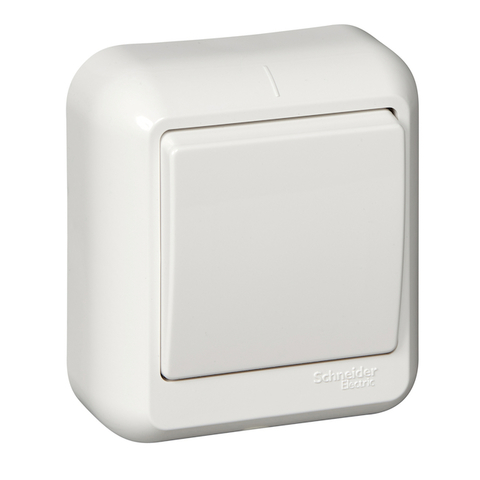 Выключатель одноклавишный 6 А 250 В в розничной упак. Цвет Белый. Schneider Electric(Шнайдер электрик). Prima(Прима). A16-051-BI