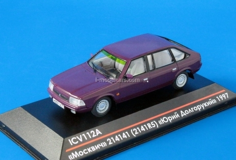 Moskvich-214141 (2141R5) Yury Dolgoruky early edition 1997 Limited Edition of 50 maroon 1:43 ICV112A