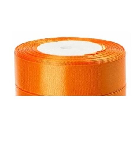 Лента атласная (размер:25мм х 25 ярдов) Цвет:оранжевый
